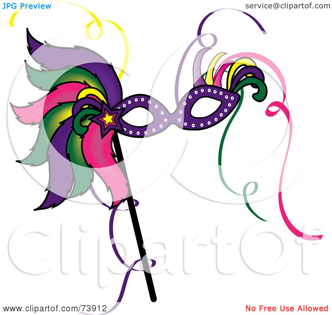 Royalty-Free (RF) Clipart Illustration of a Colorful Feathered ...