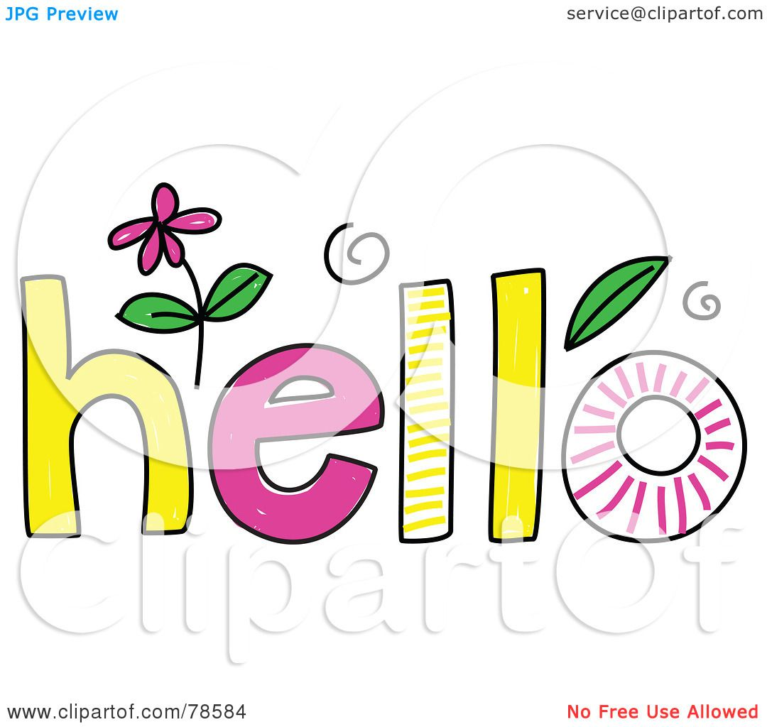royalty free  rf  clipart illustration of a colorful hello hello clipart images hello clipart for church