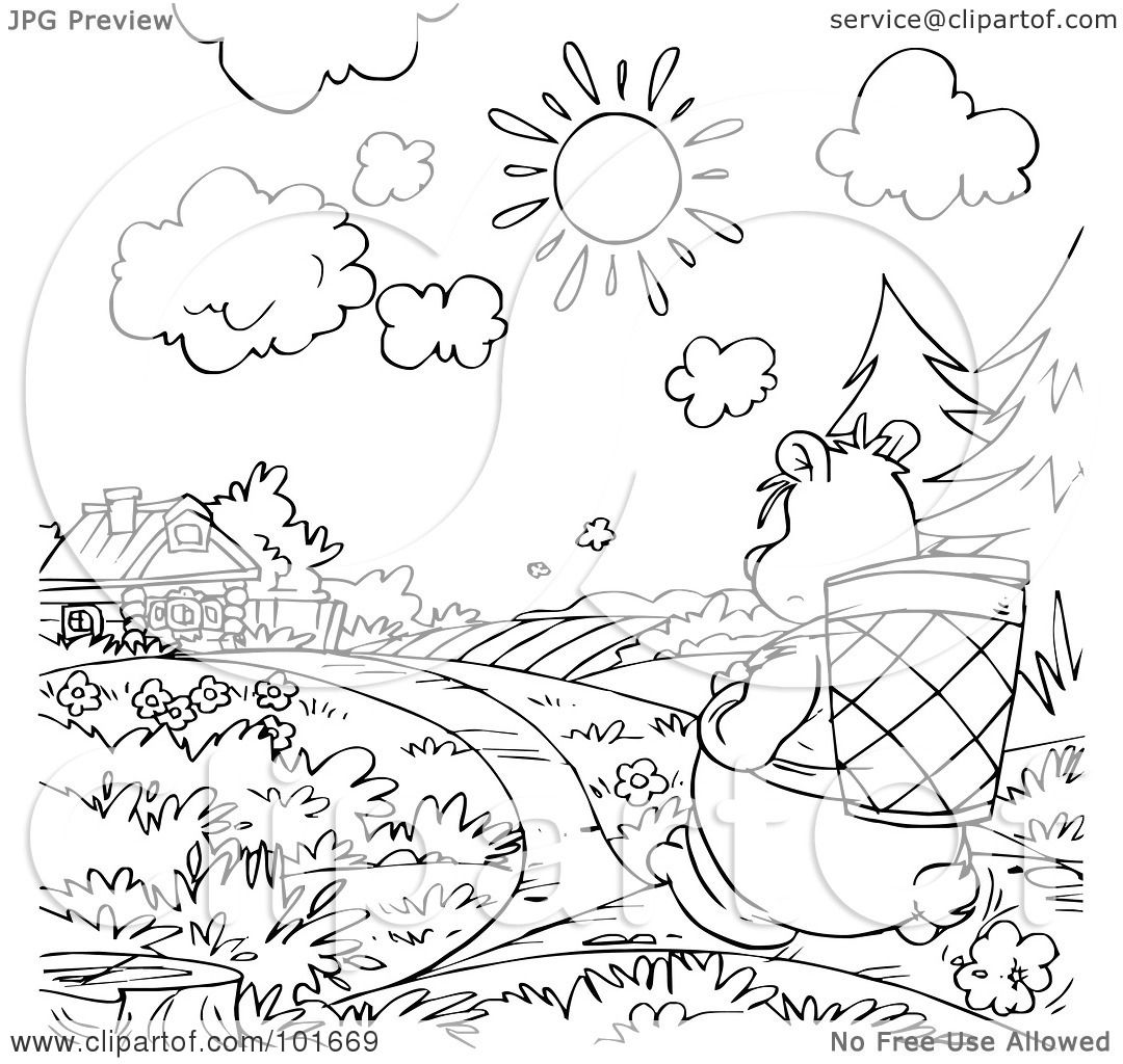 Royalty free rf clipart illustration of a coloring page for Copyright free coloring pages