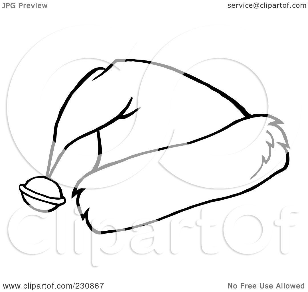 Santa Hat Outline Clip Art Images & Pictures - Becuo
