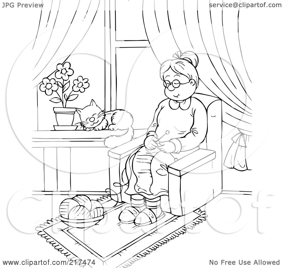 crazy old woman coloring page coloring pages