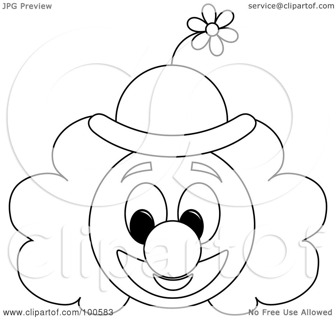 clown hat template - juggalo pages coloring pages