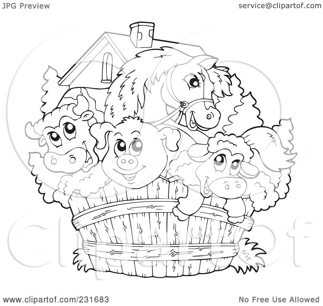 Free Barn Coloring Pages To Print, Download Free Clip Art, Free ... | 1024x1080