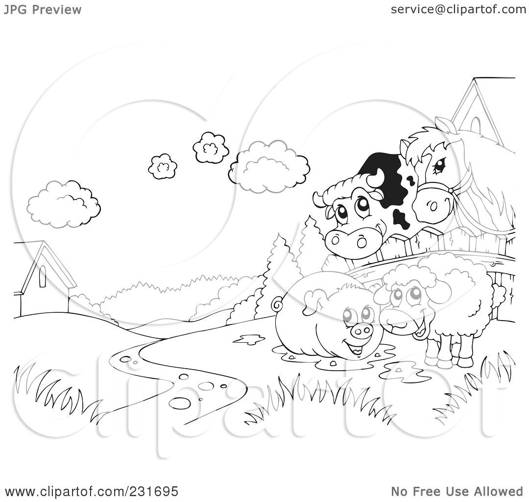 cow and chicken coloring pages - photo#13