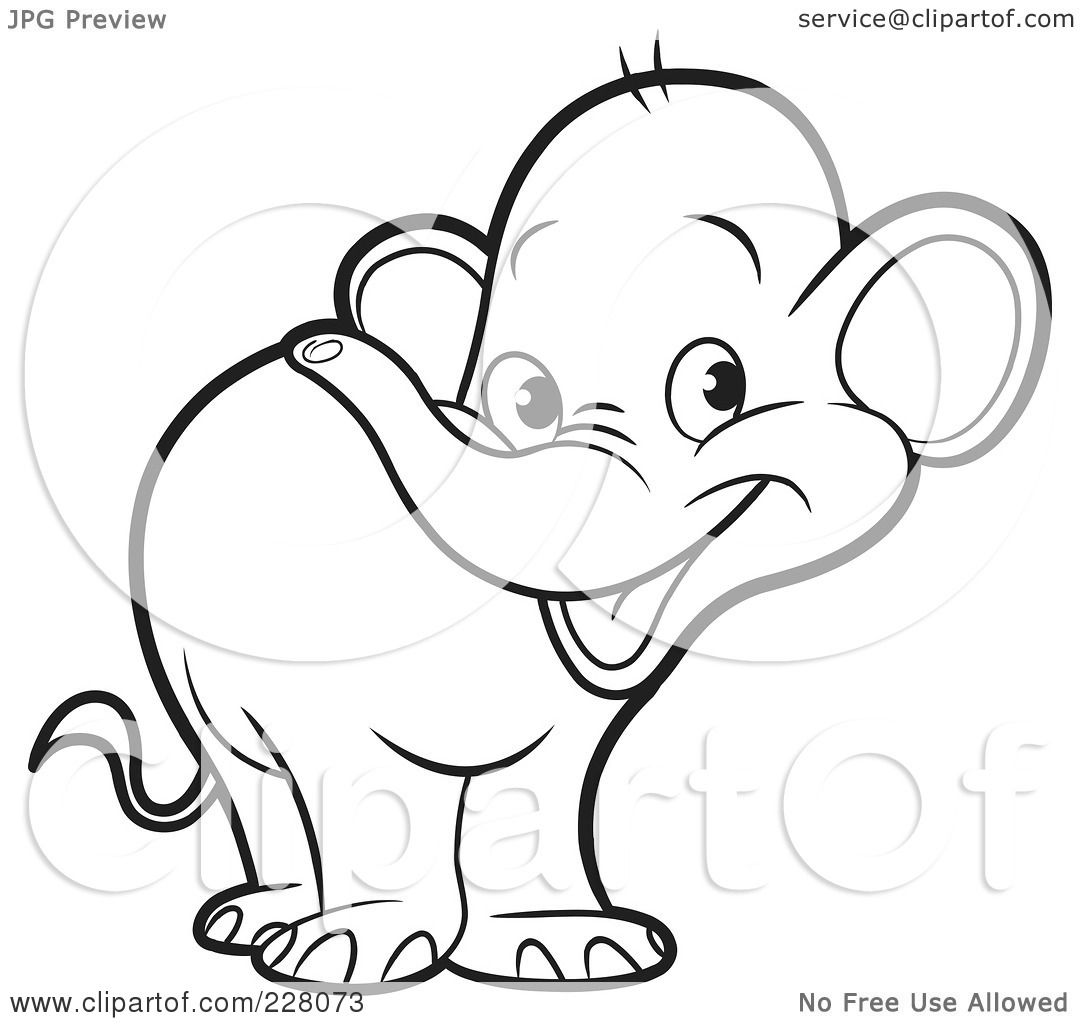 Holiday Coloring Pages » Elephant Head Coloring Page - Free ...