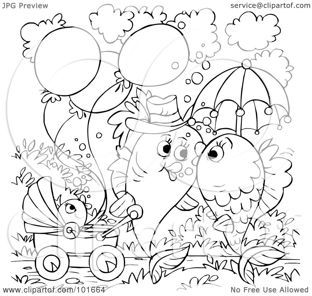 fishes kissing coloring pages - photo#23