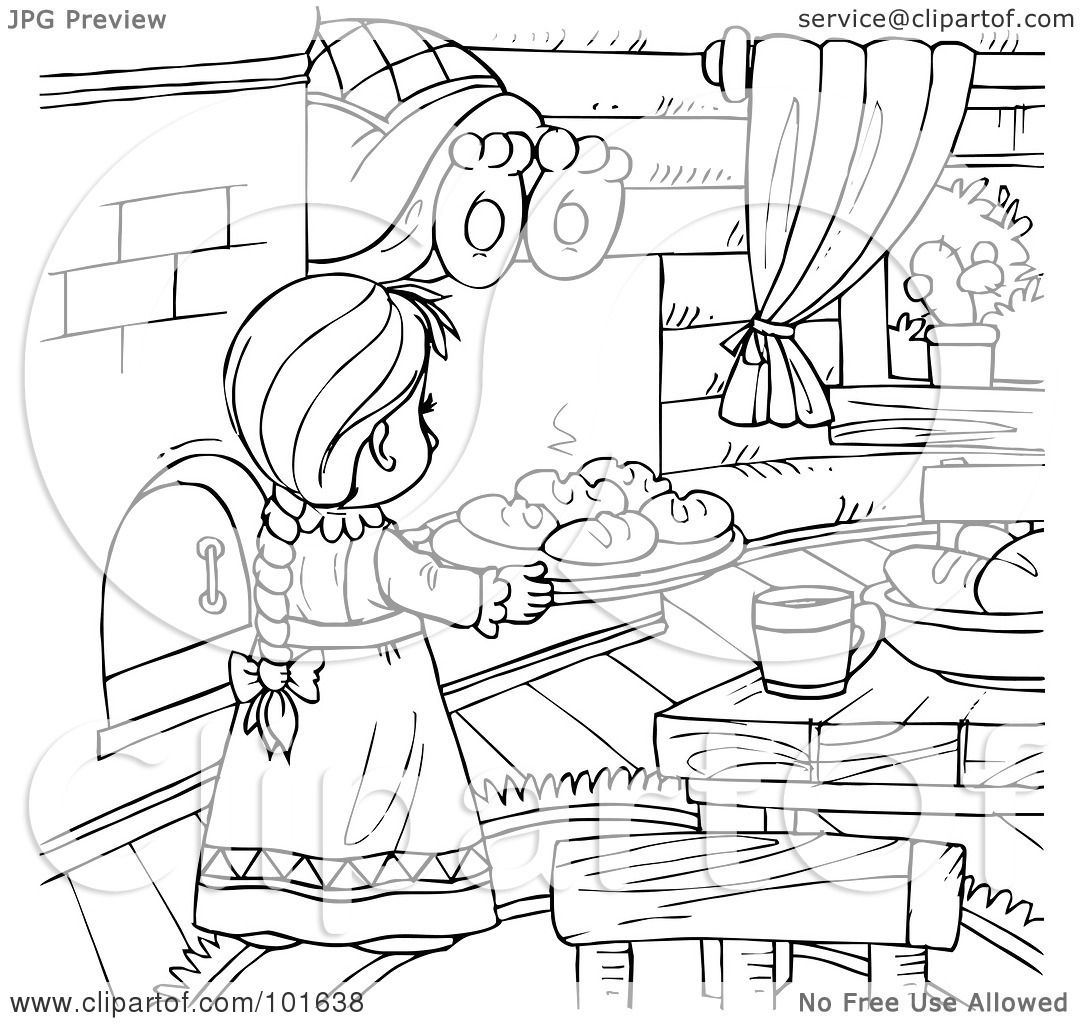 Coloring pages kitchen - Child Playing Chef In The Kitchen Coloring Page Free Printable Click Coloring