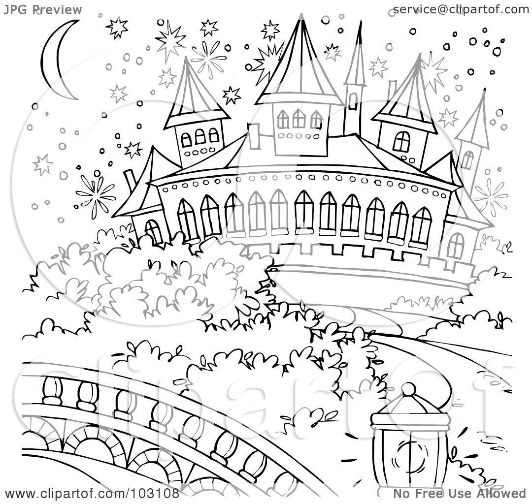 Cinderella Castle Outline Magical Cinderella Castle
