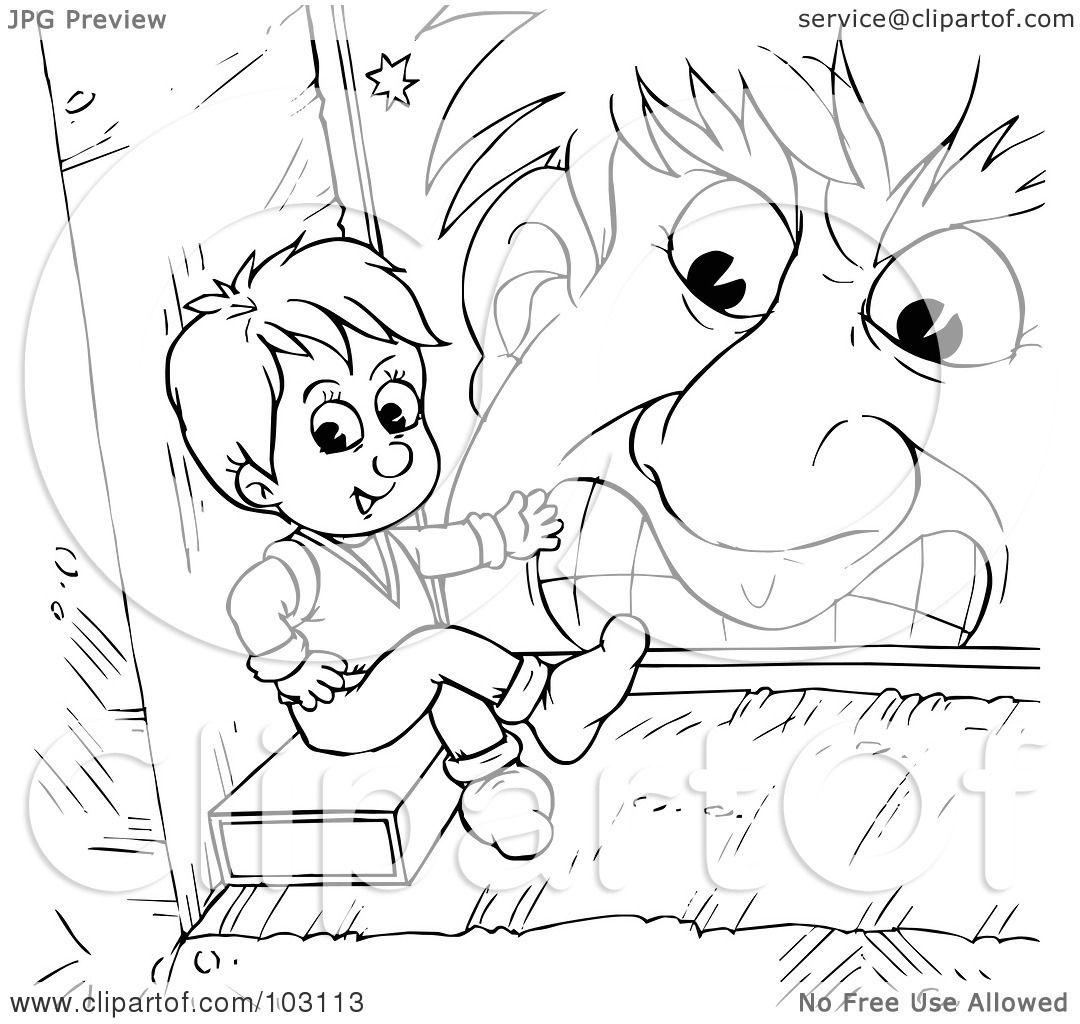 Раскраска мальчик с пальчик распечатать - 8