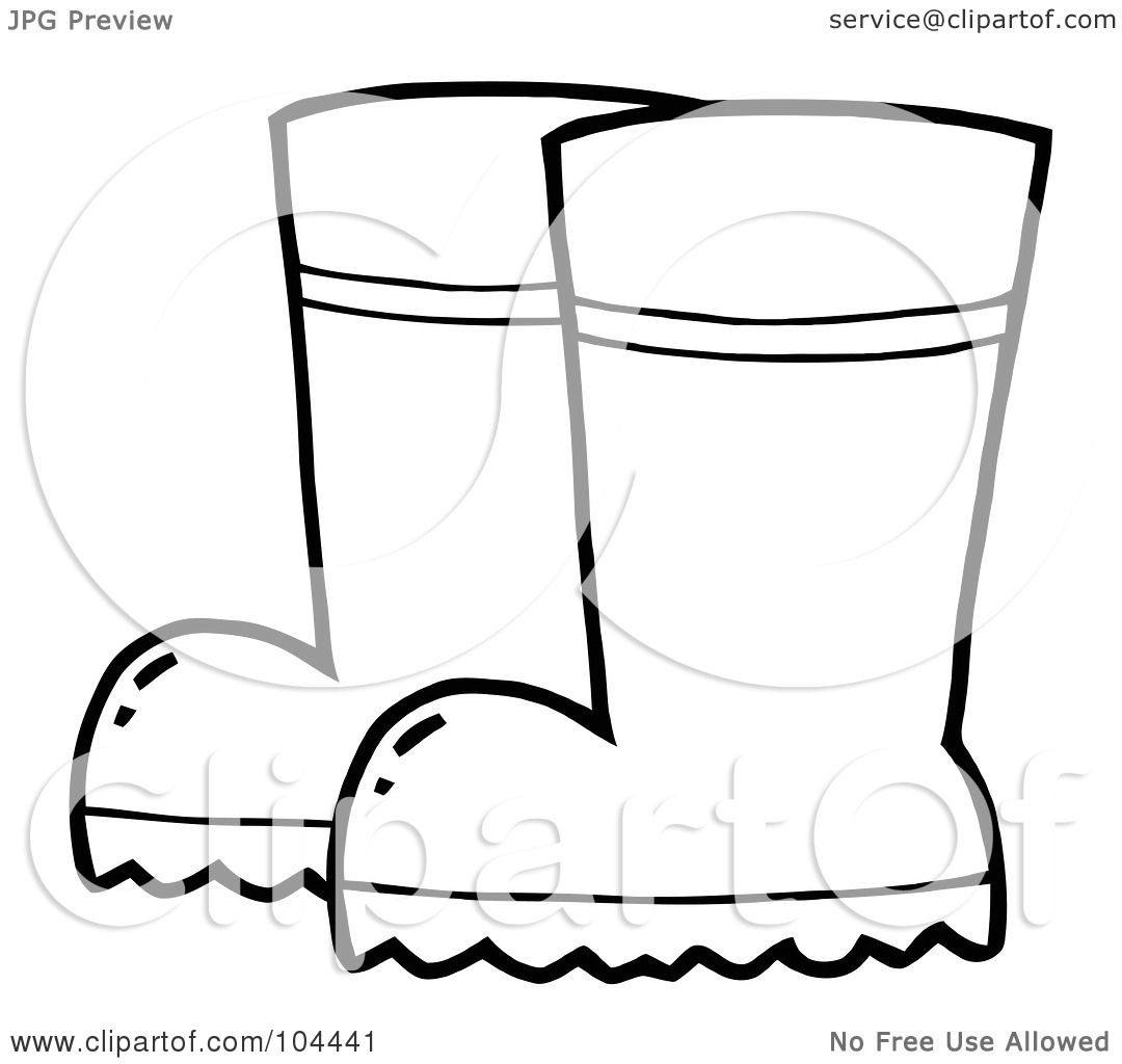 Rain boots coloring pages