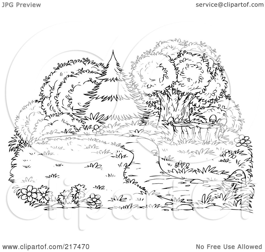 Coloring Grass Field Coloring Pages