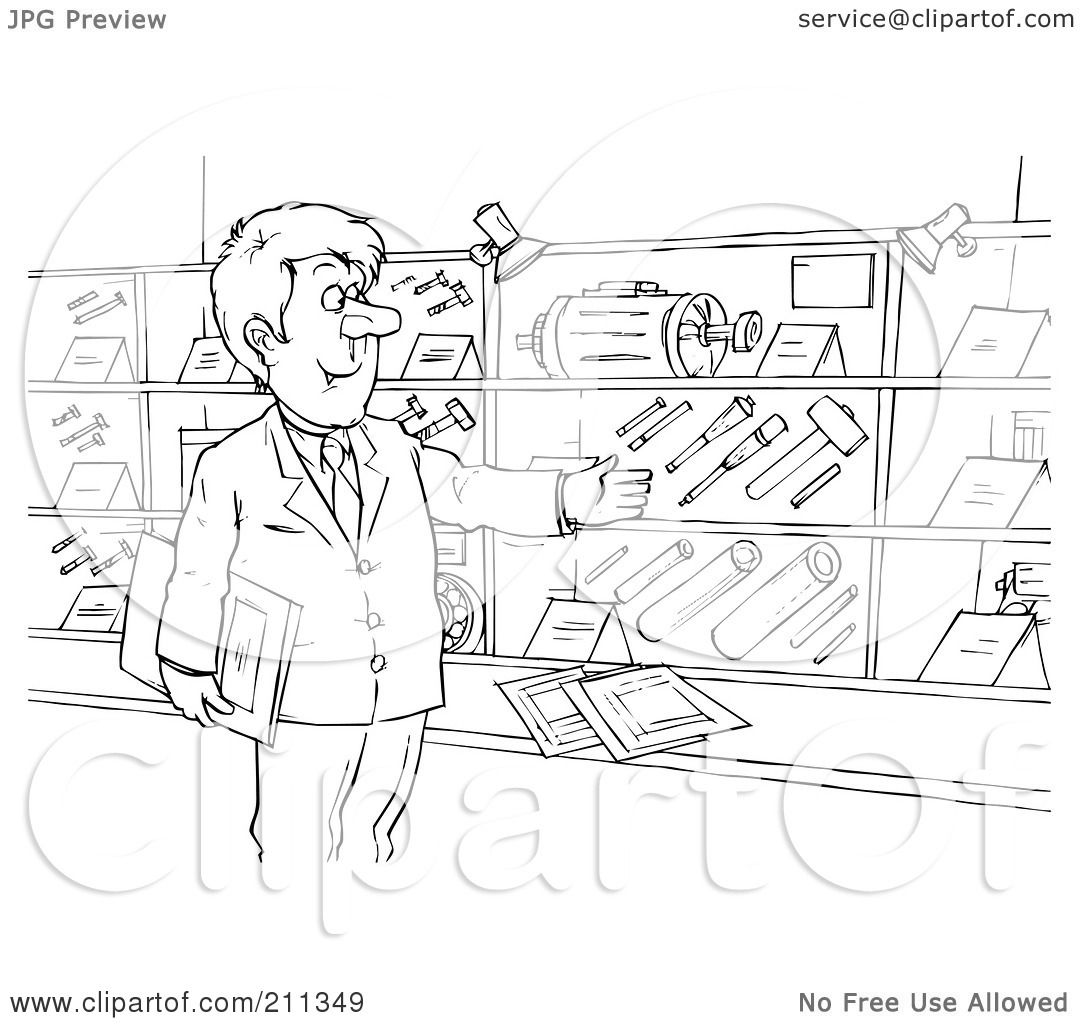 Royalty-Free (RF) Clipart Illustration of a Coloring Page Outline Of ...