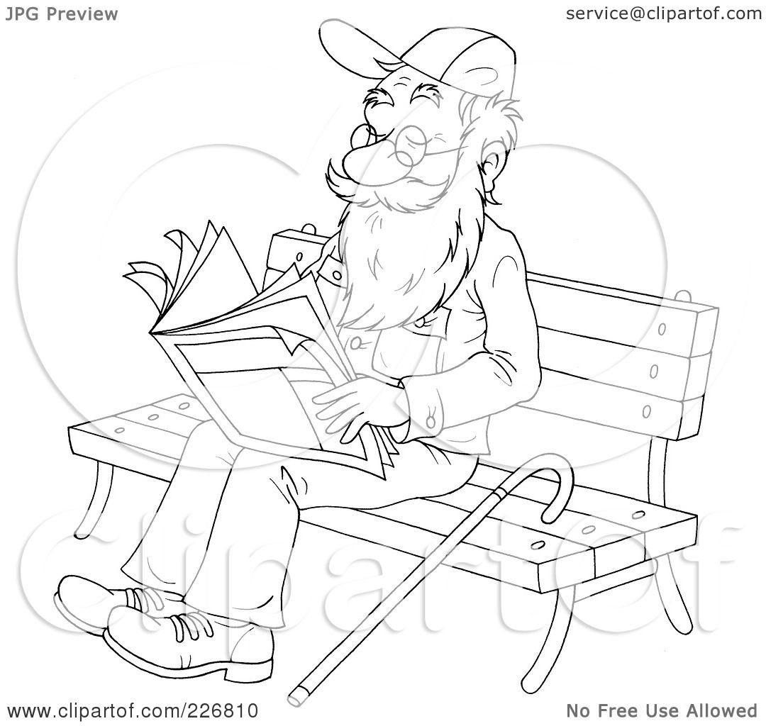 Free coloring pages for reading - Free Coloring Pages Reading Royalty Free Rf Clipart Illustration Of A Coloring Page Outline Of