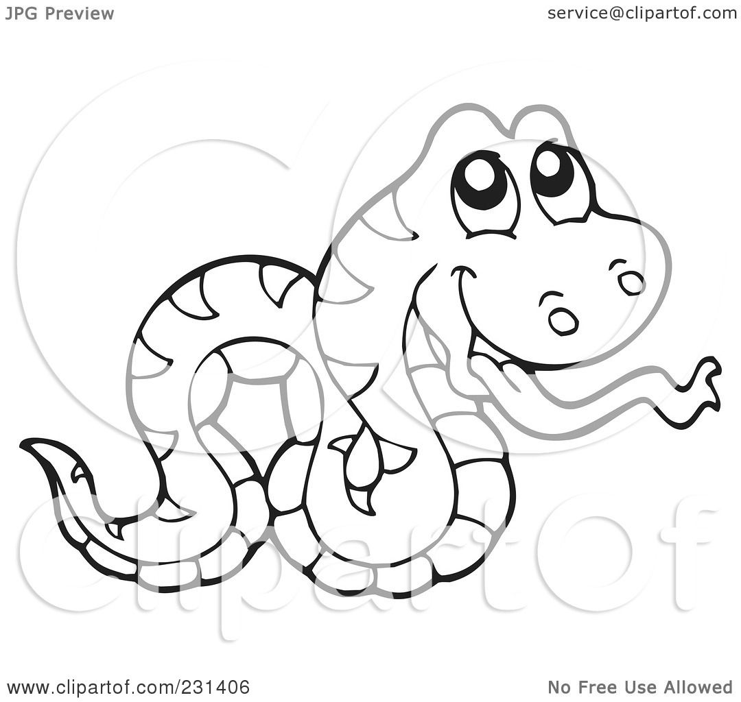 snake outline coloring pages - photo#19