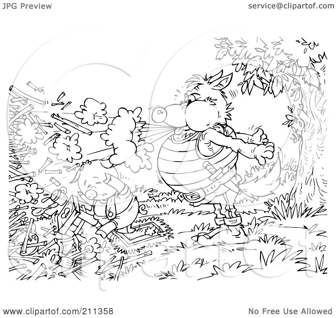 straw house coloring pages - photo#28