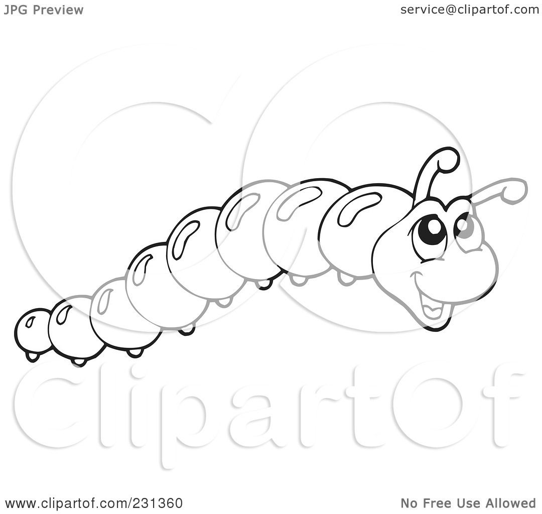 Inchworm Coloring Pages