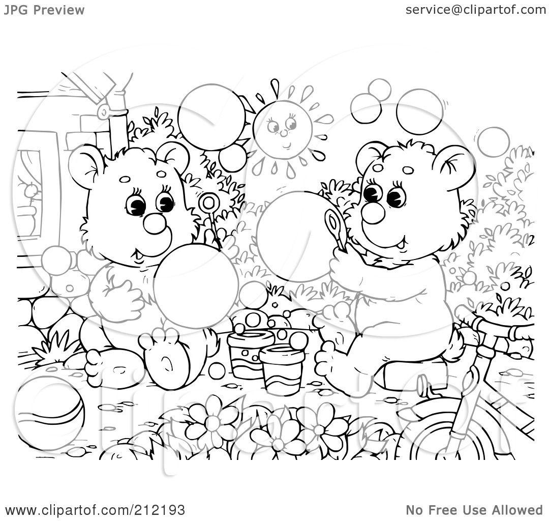bubbles coloring page virtren com
