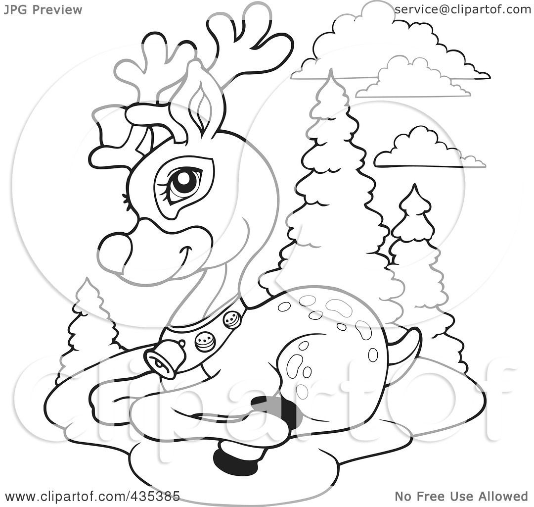Stunning Rudolph The Red Nosed Reindeer Coloring Pages