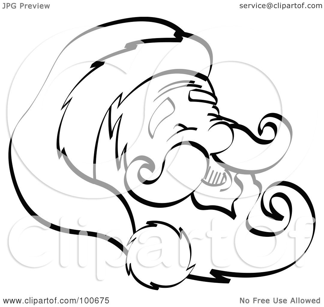 royalty free rf clipart illustration of santa u0027s happy face with