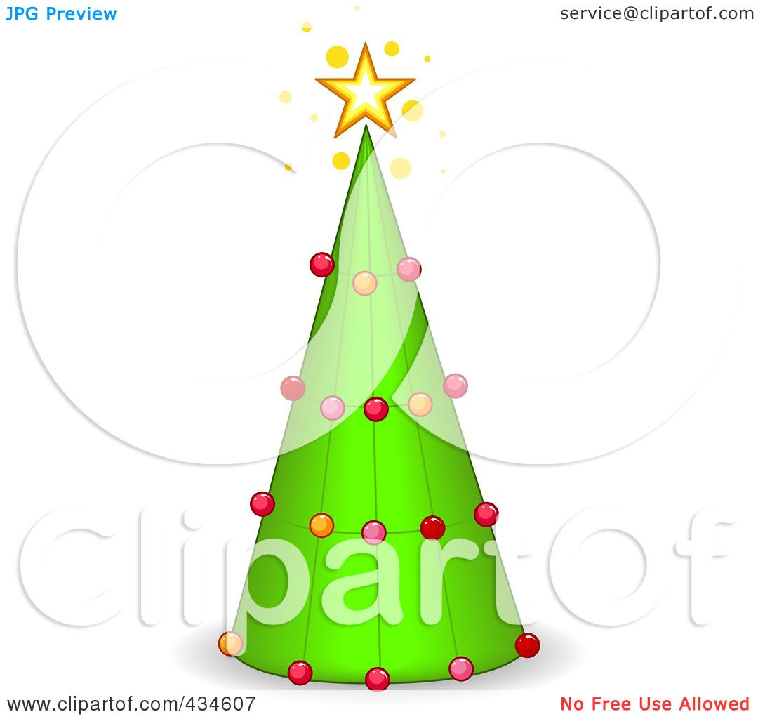 Royalty-Free (RF) Clipart Illustration of a Cone Christmas ...