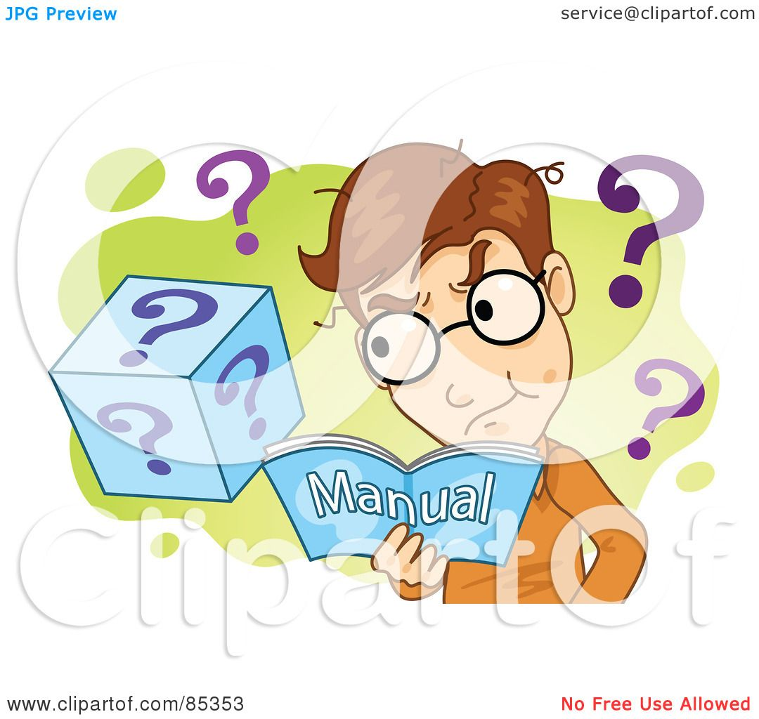 Does Question Mark Go Inside Quotes: Royalty-Free (RF) Clipart Illustration Of A Confused Man