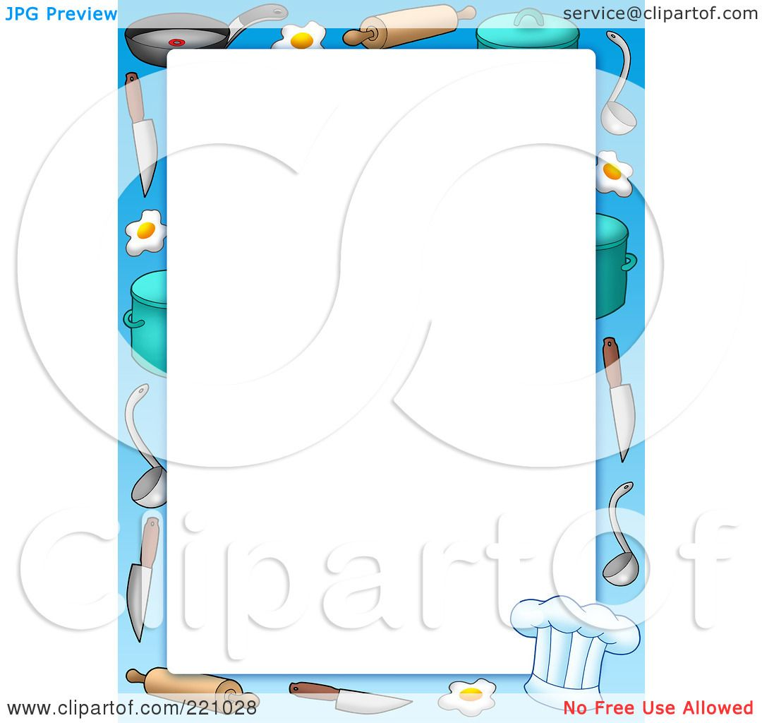 Royalty-Free (RF) Clipart Illustration of a Cooking Items ...
