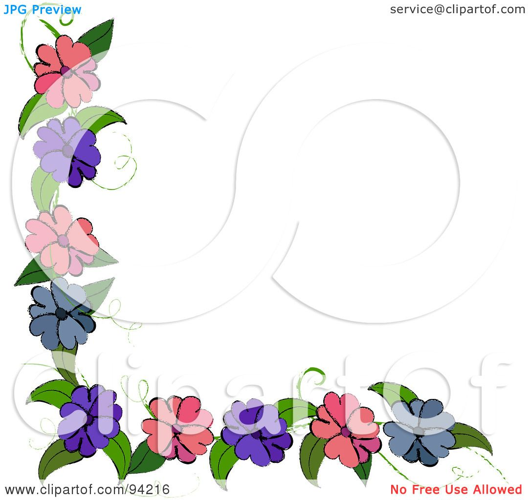 Royalty-Free  RF  Clipart Purple Top Border Clip Art