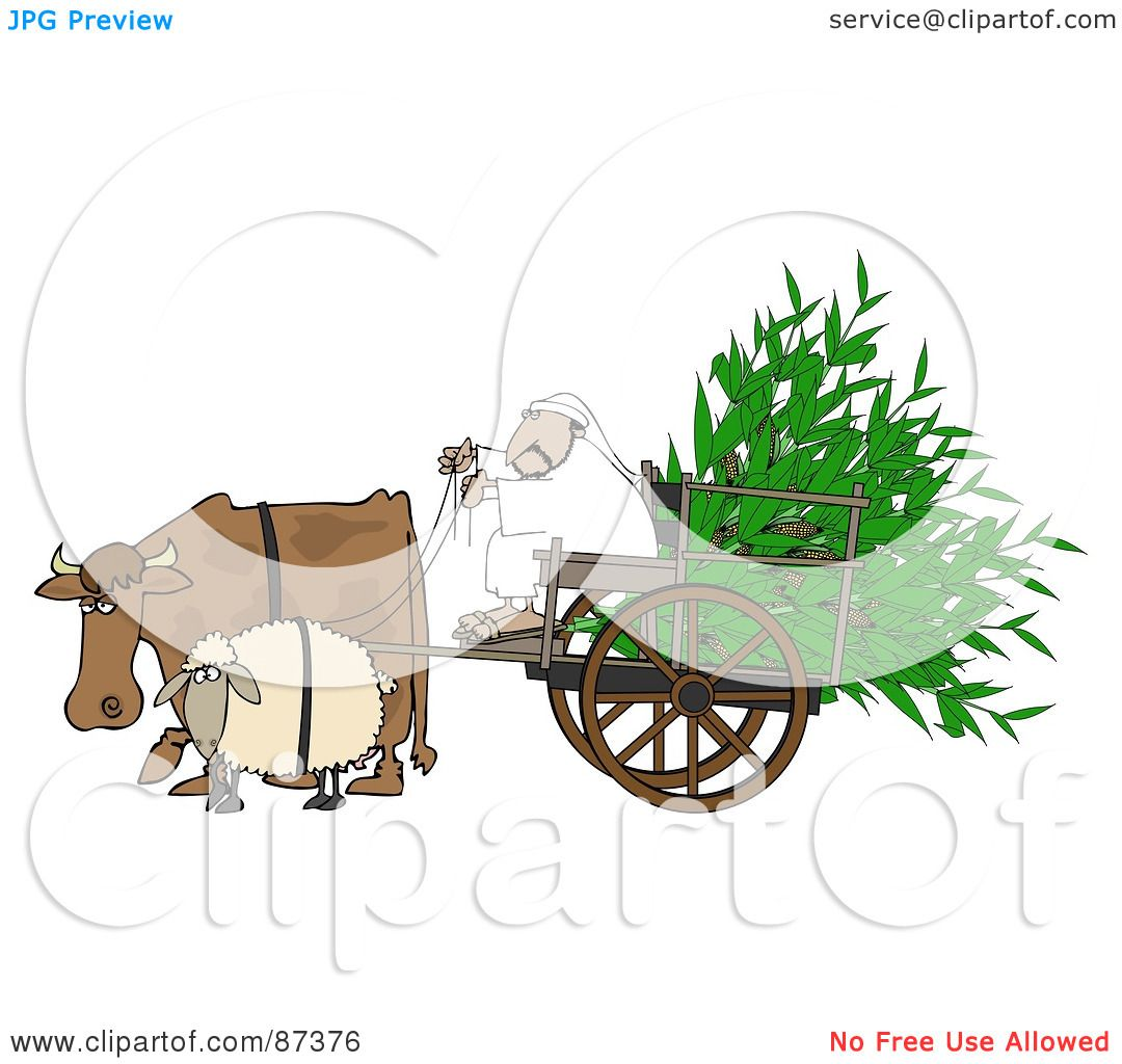 Cow Cart Clipart Royalty-Free  RF  Clipart
