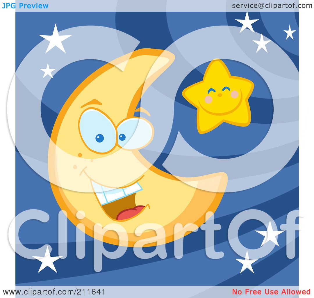 Royalty Free Rf Clipart Illustration Of A Crescent Moon