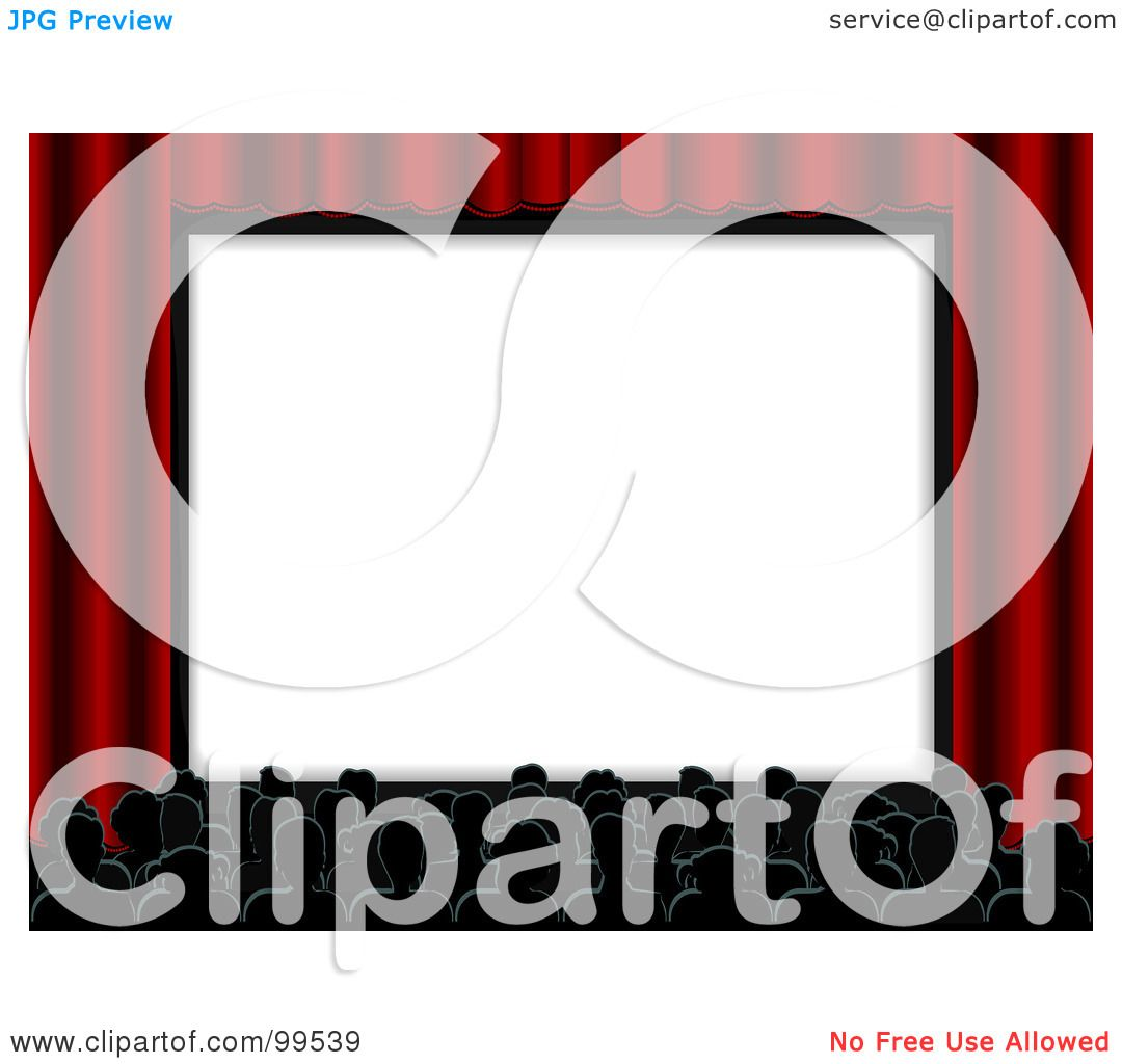 royalty free rf clipart illustration of a crowded movie cinema rh clipartof com  movie theater screen clipart