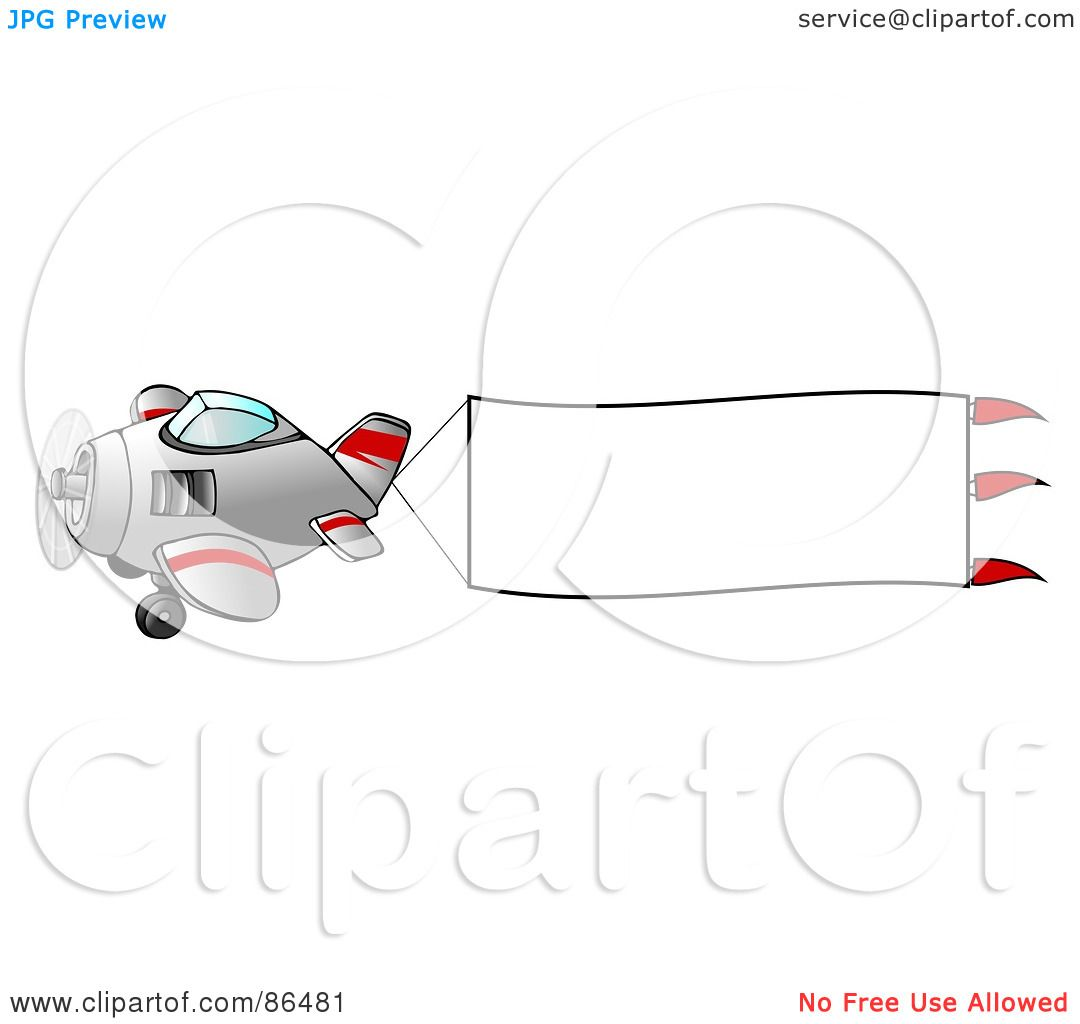 royalty free rf clipart illustration of a cute airplane with a