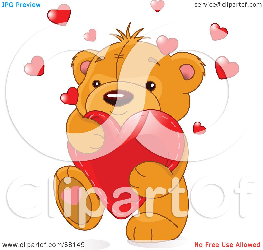 Royalty-Free (RF) Clipart Illustration of a Cute Amorous ...