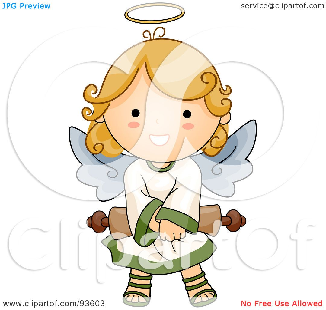 Royalty-Free (RF) Clipart Illustration of a Cute Angel ...