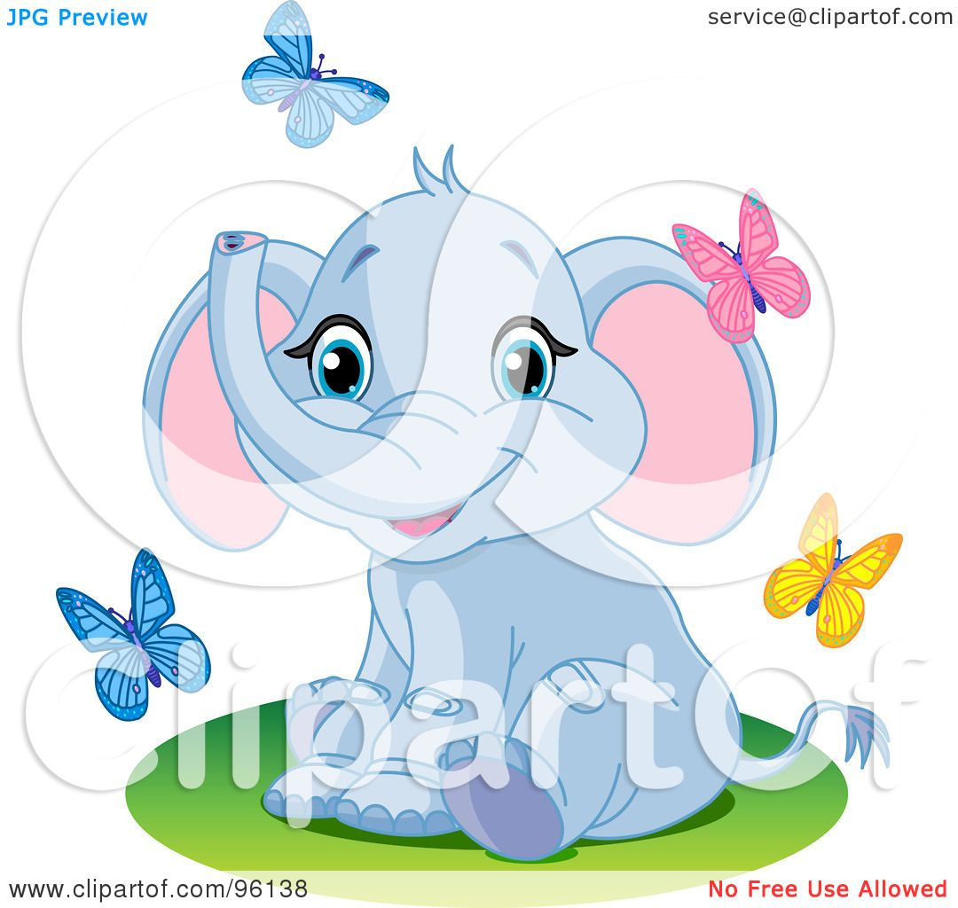 Royalty Free Rf Clipart Illustration Of A Cute Baby Blue