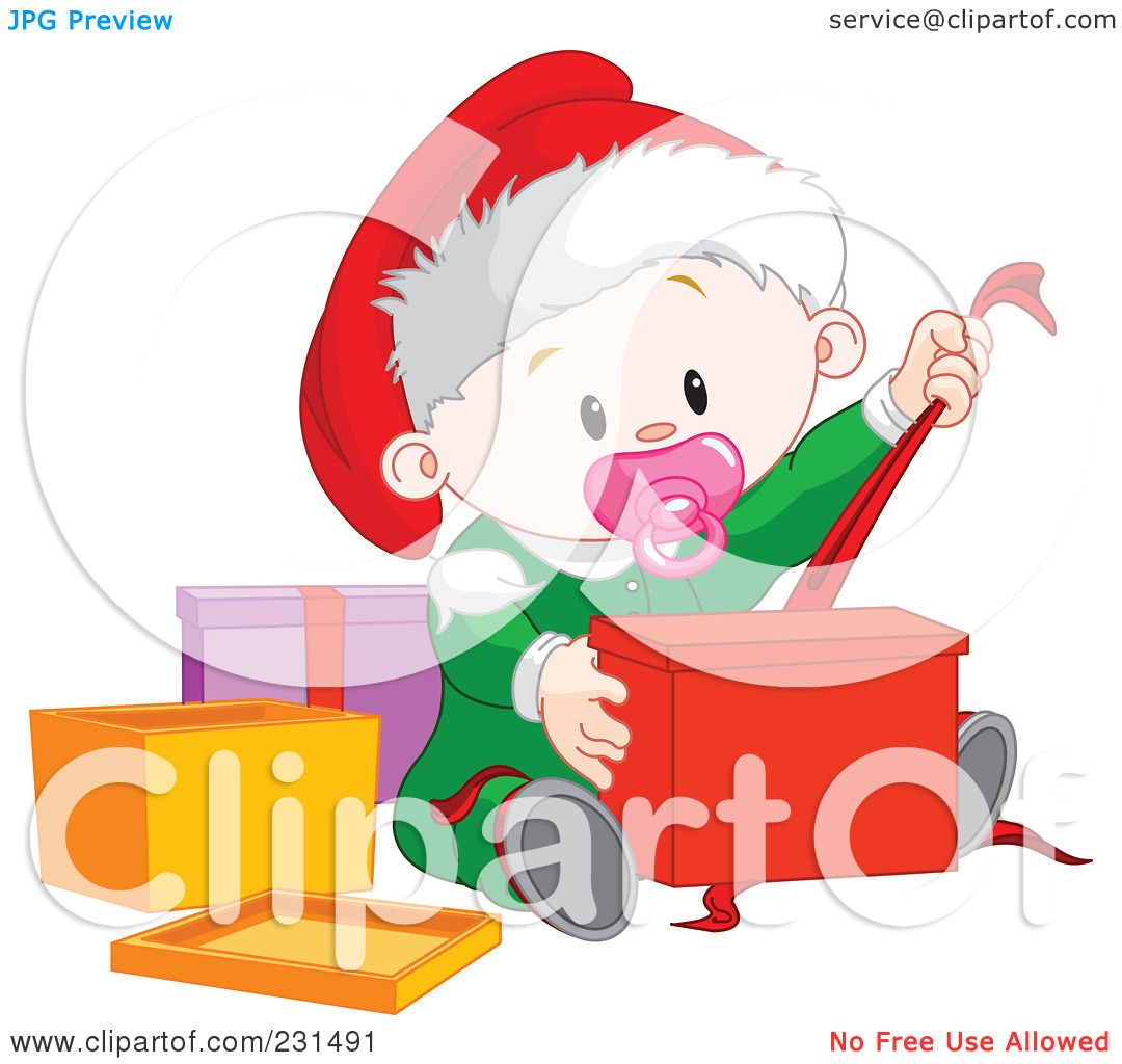 Royalty-Free (RF) Clipart Illustration of a Cute Baby Girl ...