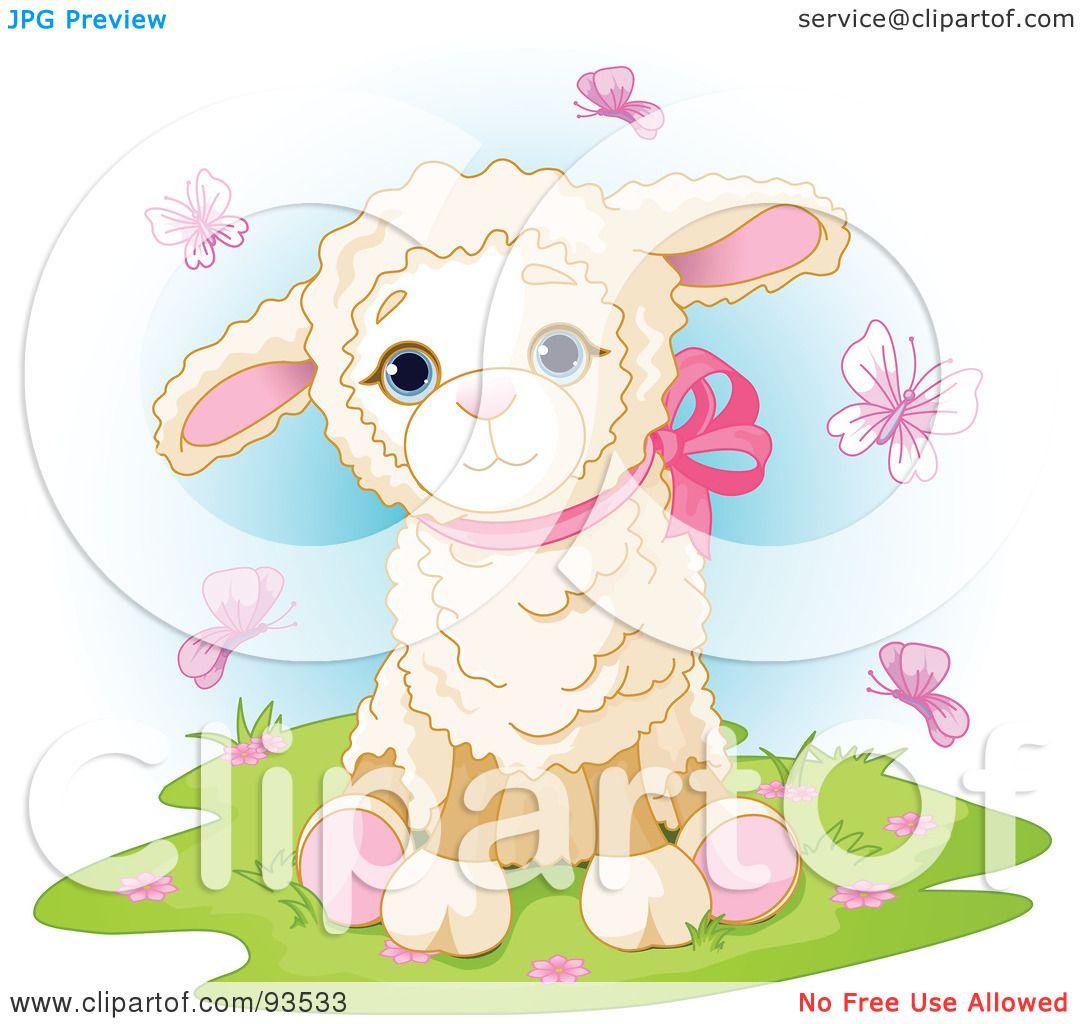 royaltyfree rf clipart illustration of a cute baby lamb