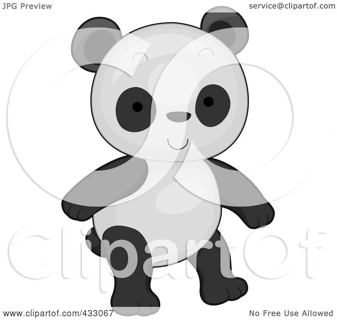 Royalty-Free (RF) Clipart Illustration of a Cute Baby Girl
