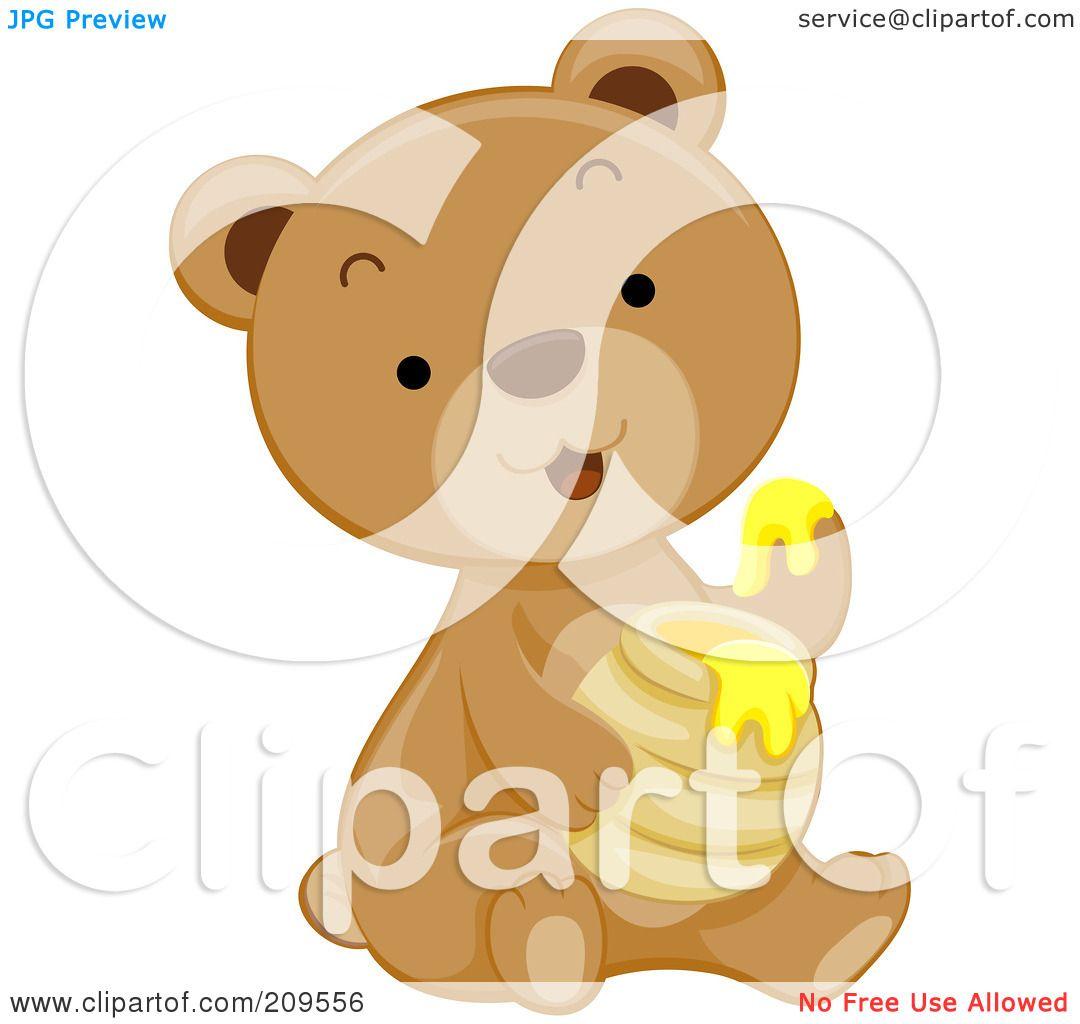 Clipart Illustration of a Honey Bear Illustration