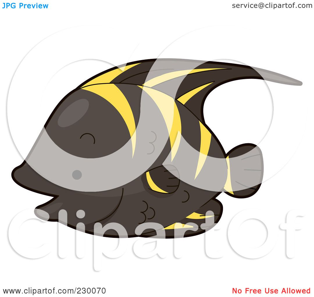 royalty free  rf  clipart illustration of a cute black and colorful angelfish clipart angel fish clip art free