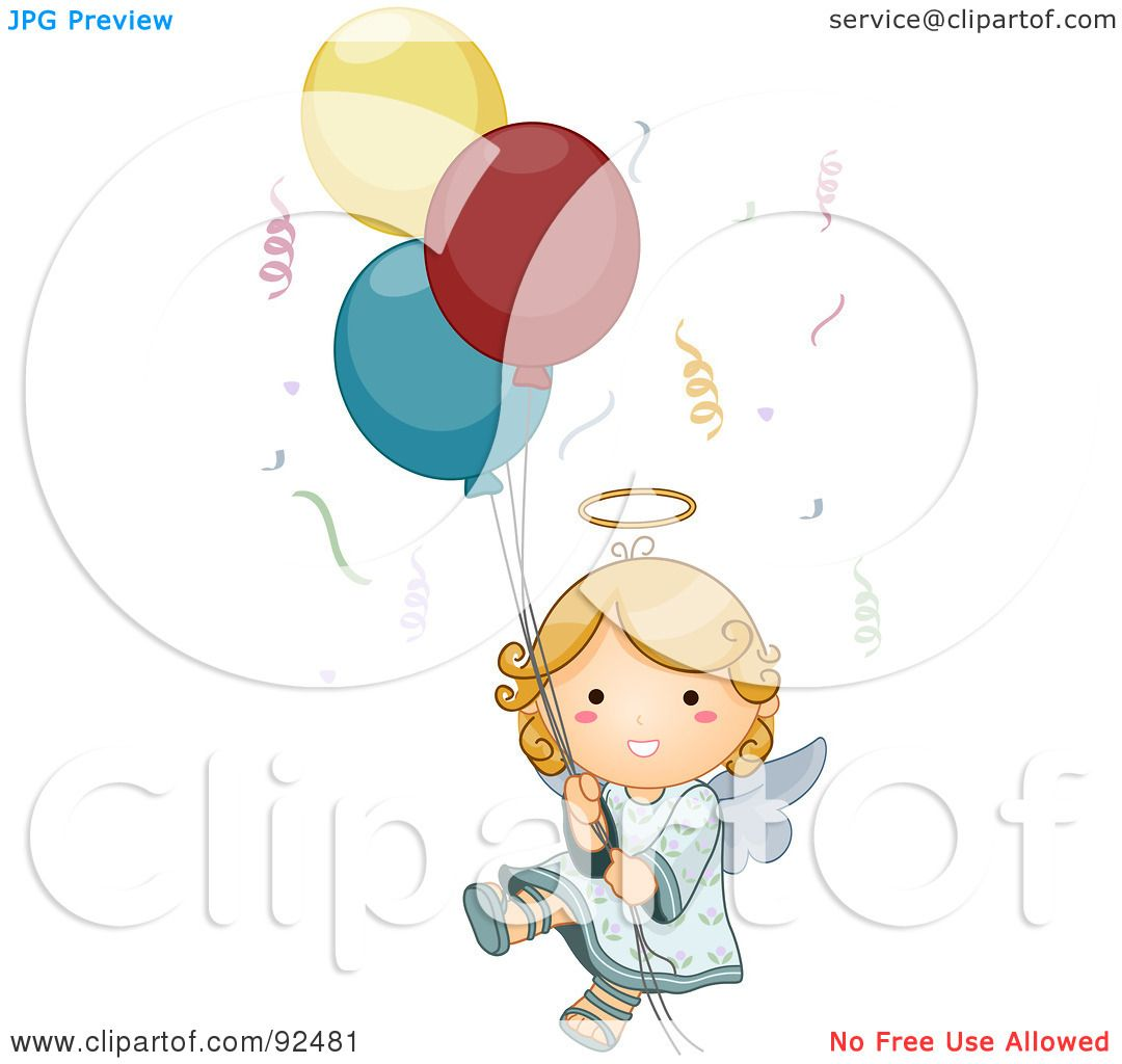 Royalty Free RF Clipart Illustration Of A Cute Blond