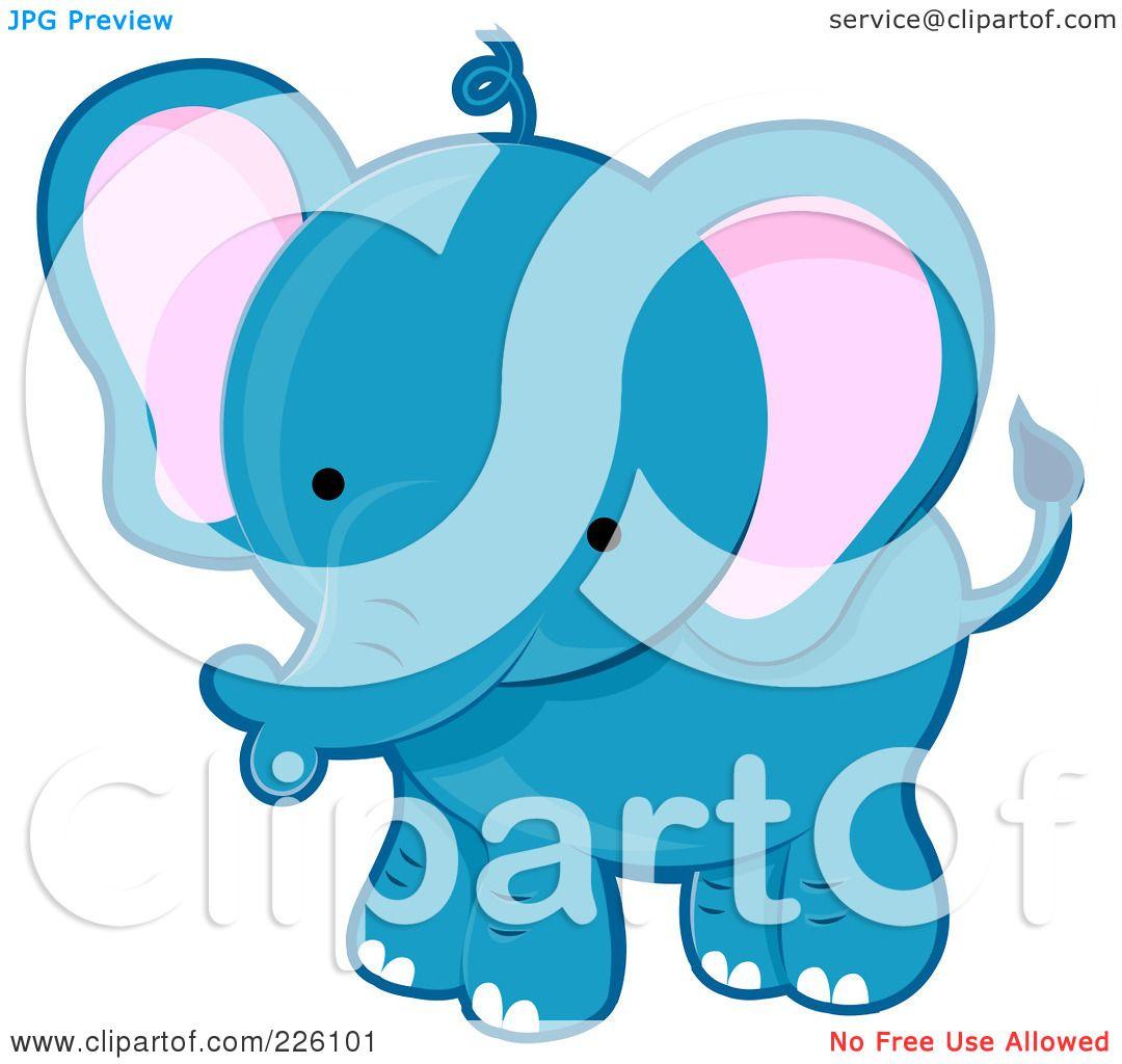 Baby Giraffe Clipart Blue a Cute Blue Baby Elephant
