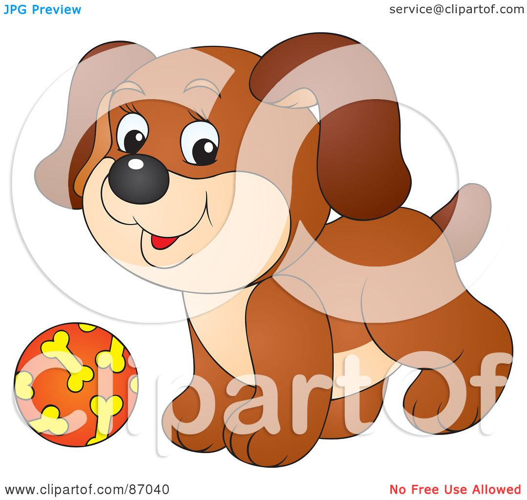 Royalty-Free (RF) Clipart Illustration of a Cute Brown ...