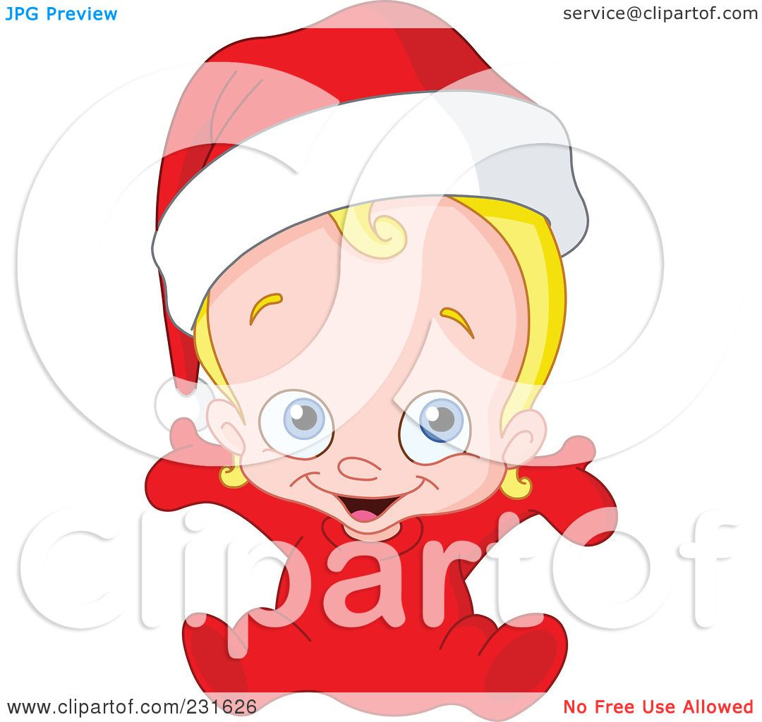 Christmas baby clipart