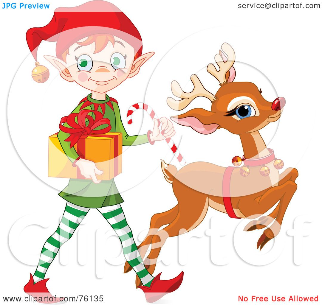 Royalty-Free (RF) Clipart Illustration of a Cute Christmas ...