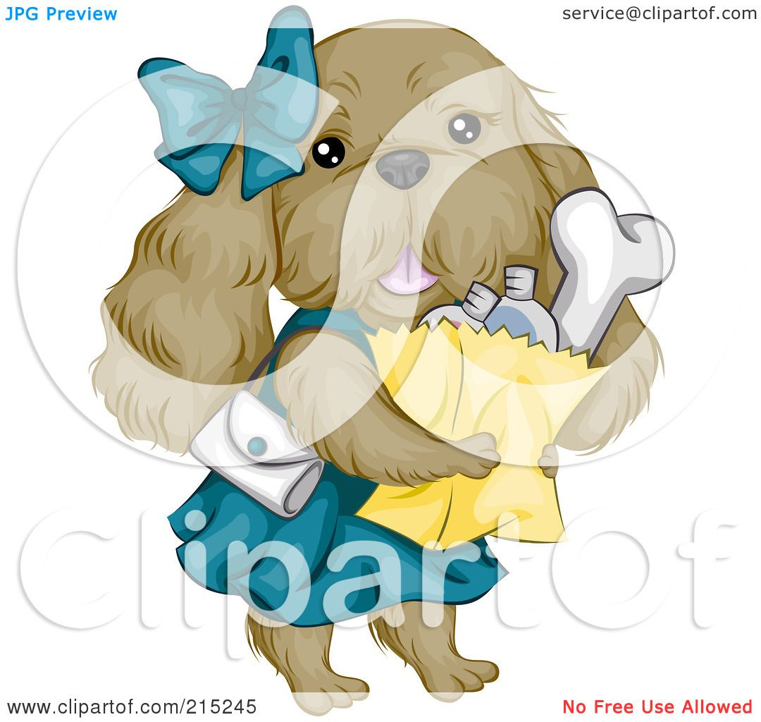 Royalty-Free (RF) Clipart Illustration of a Cute Cocker Spaniel ...
