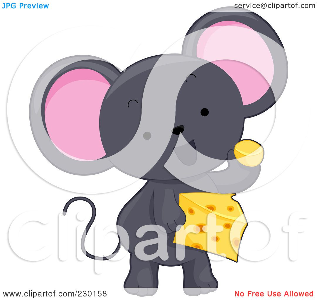 clipart mouse eating cheese - photo #37