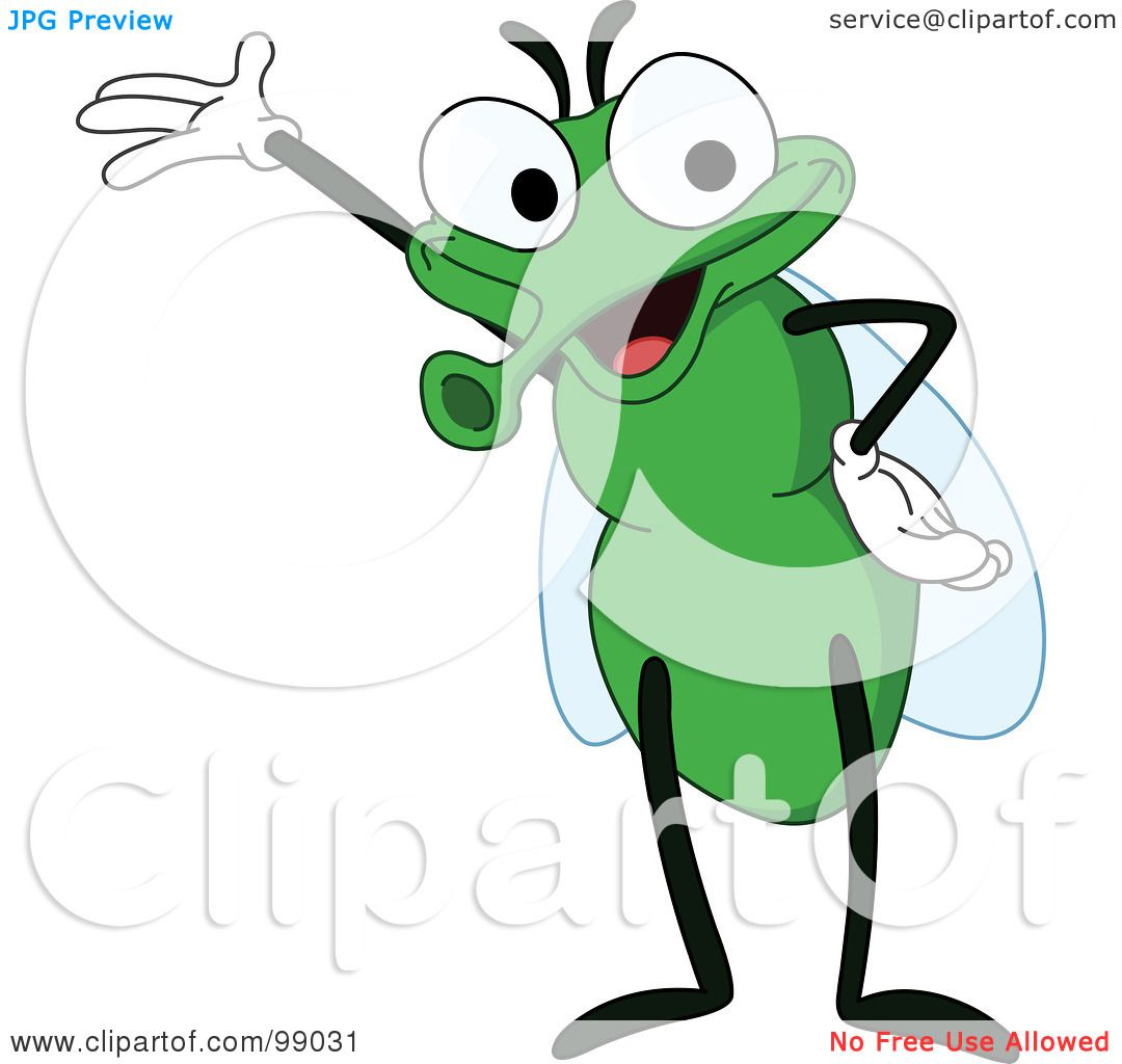 Royalty-Free (RF) Clipart Illustration of a Cute Green Fly ...