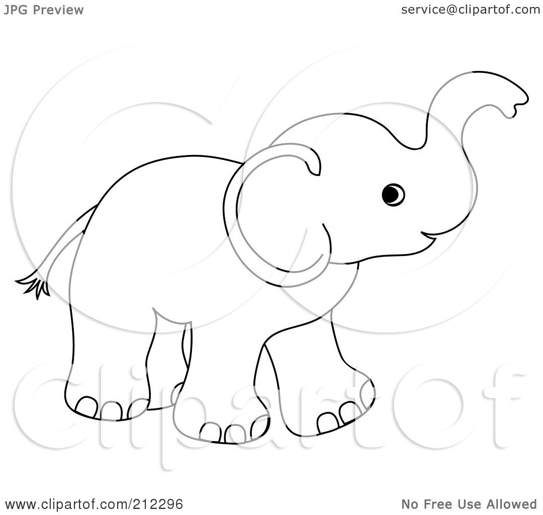 Royalty-Free (RF) Clipart Illustration of a Cute Outlined ...