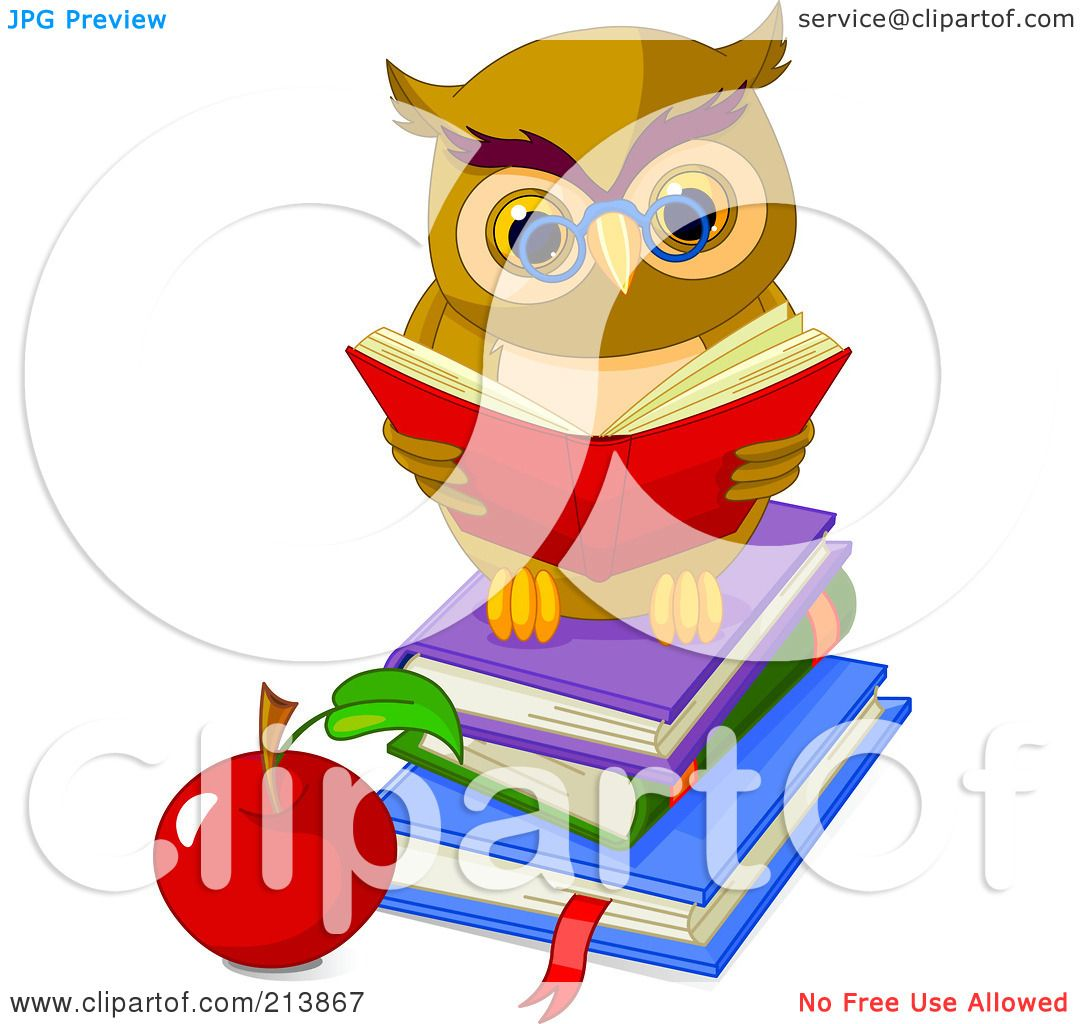 Royalty-Free (RF) Clipart Illustration of a Cute Owl ...