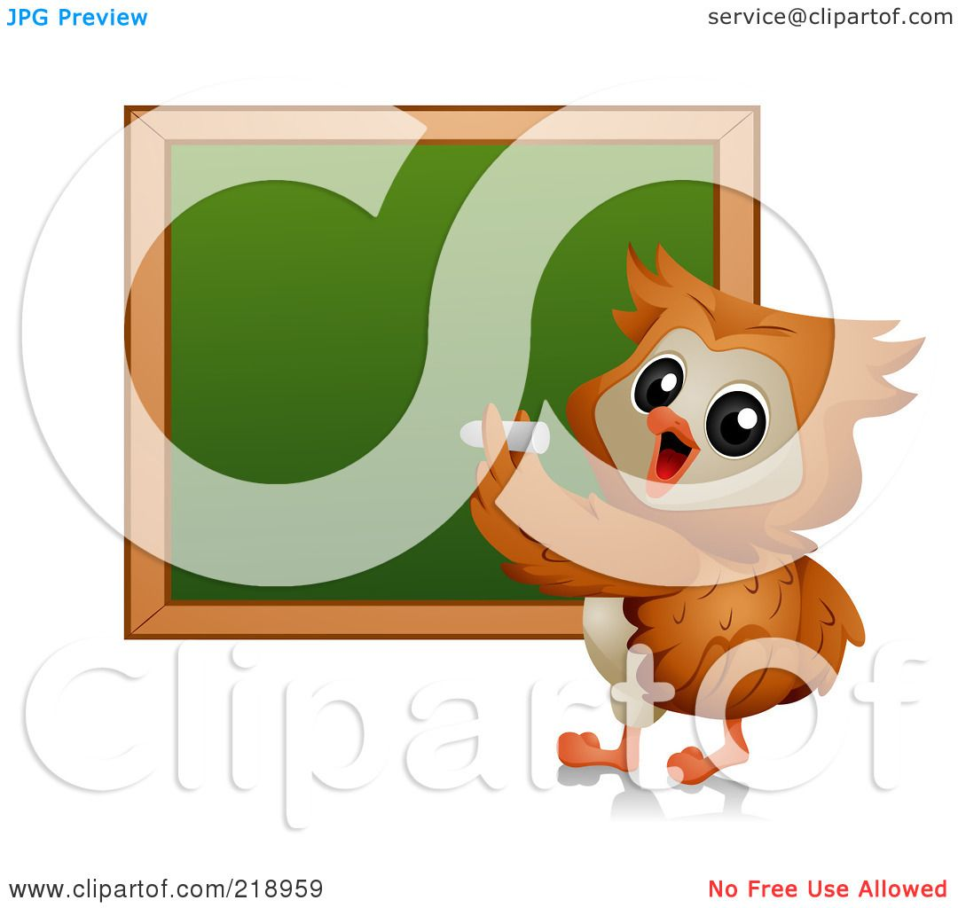 royalty free rf clipart illustration of a cute owl writing on a rh clipartof com Pencil Writing Clip Art Girl Writing Clip Art